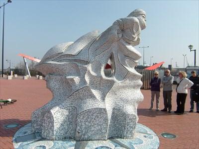 Antartica 100 Memorial - Cardiff Bay - Wales.