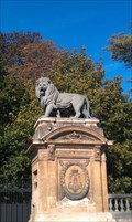 Image for Lions flanking entrance Royal Palace, Brussels, BE