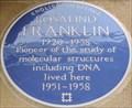 Image for Rosalind Franklin - Drayton Gardens, London, UK