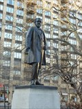 Image for Statue of a Politician Killed by a Blizzard - New York, NY
