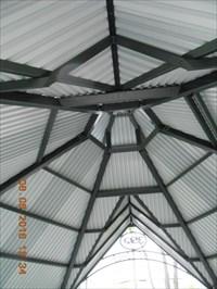 Photo avec vue du toit de l