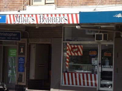 Street view of Mike's Barber Shop.1616, Sunday, 4 February, 2018