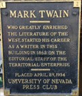 Image for Mark Twain - Virginia City, NV