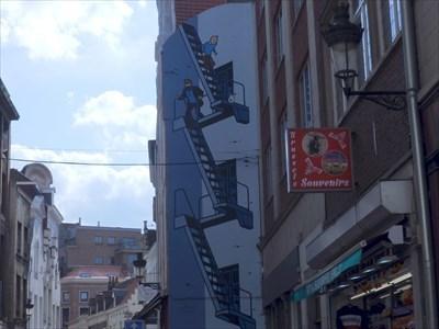 The Adventures of Tintin Mural - Brussels, Belgium