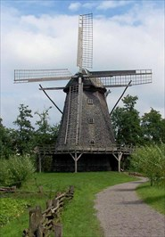 Kappenwindmühle in Cloppenburg, Germany.
