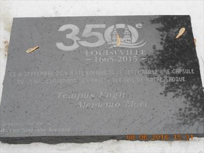 Capsule du Temps du 350e de Louiseville.  350th Time Capsule Louiseville.