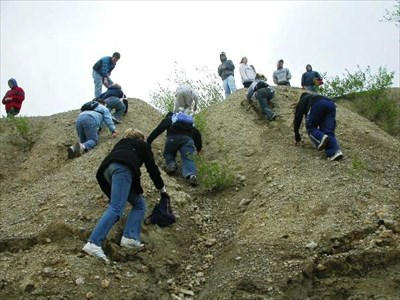The students always laugh and have lots of fun while getting skinned up on these hills.