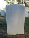 William F Dean Headstone, Back, San Francisco National Cemetery