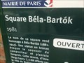 Image for Le square Bela Bartok - PAris - France