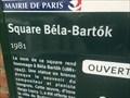 Image for Le square Bela Bartok - PAris - France