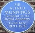 Image for Sir Alfred Munnings - Beaufort Street, London, UK
