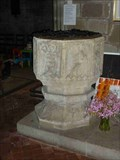 Image for Stone Font, St Michael & All Angels, Stoke Prior, Worcestershire, England