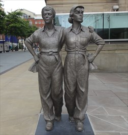 Image result for women of the steel city statues sheffield