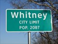 Image for Whitney, TX - Population 2087