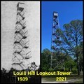 Image for Louis Hill Lookout Tower in 1939 and 2021 - Lawtey, Florida