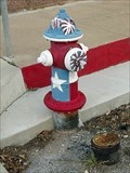 Image for Red, White & Blue Hydrant - San Saba, TX
