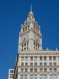 Image for Wrigley Building Clock -- Chicago, IL   USA