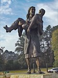 Image for Jesus carrying a man - Carthage, TX