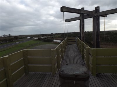 A view to the west from the Tower, with the Orientation Table, and the