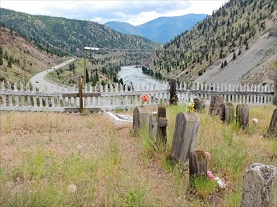 A family cemetery above the river