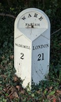 Image for Mile Stone - A1170, Wadesmill Rd, Ware, Hertfordshire, UK.