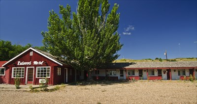 "The Redwood Motel was used as a location in the 1992 movie ""Thunderheart."" In 2011 it has been closed for some time."