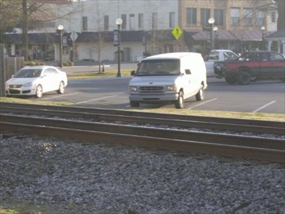 This lot is located across the tracks providing train watching from your vehicle.