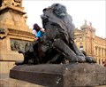 Image for Colombus Monument Lions - Barcelona, Spain