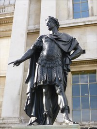 Lord Abercrombie visited Jacobvs Secvndvs - Trafalgar Square,
