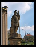 Image for St. Florian statue in front of a Firehouse - Letovice, Czech Republic