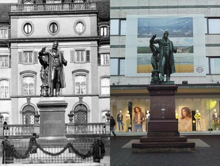 Louis Spohr Denkmal Kassel Germany Photos Then And Now On - Germany map then and now