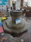 Image for Stone Font, St. Laurence Church, Ludlow, Shropshire, England