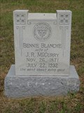 Image for Bennie Blanche McCurry - Mount Zion Cemetery - Rockwall, TX