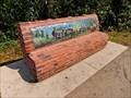 Image for Centennial Log Bench - Red Deer, AB