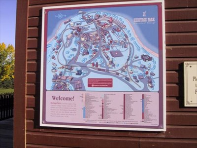 Heritage Park Midnapore Station You Are Here Map - Calgary, Alberta on