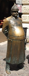 Image for The Fat Policeman Statue - Budapest, Hungary