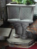 Image for Stone Font, St Leonard's Church, Ribbesford, Worcestershire, England