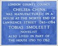 Image for Chelsea China and Tobias Smollett - Lawrence Street, London, UK
