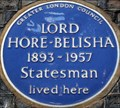 Image for Lord Hore-Belisha - Stafford Place, London, UK
