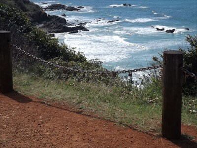 The rugged view from the Dedicated Bench of Gregory and Marie Brown, Port Macquarie. 1207, Sunday, 11 September, 2016