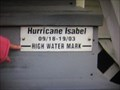 Image for Hurricane Isabelle High Water Mark - Chester, MD
