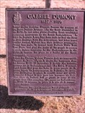 Image for Gabriel Dumont plaque