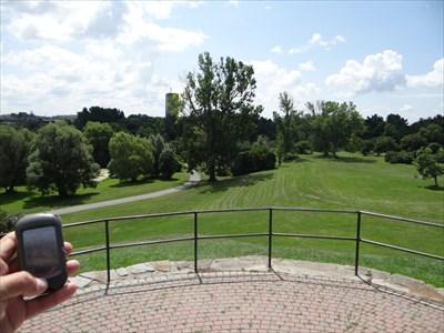 a green toboggan hill