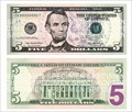 Image for Five-dollar bill - Washington, USA