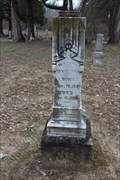 Image for EARLIEST Documented Grave in Liberty Cemetery - Martin's Mill, TX