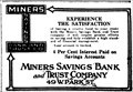 Image for Miners' Savings Bank and Trust Company - Butte, Montana