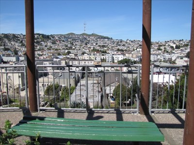 Bench with View of Sutro Tower, San Francisco, CA