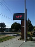 Image for Valencia High School Time & Temperature Sign - Placentia, CA