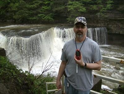 My husband Mike at the falls