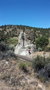 View of Chimney Rock from T Marker